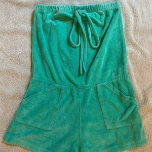 Womens Green American Apparel Romper